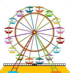 Free clipart ferris wheel vector library Free Ferris Wheel Cliparts, Download Free Clip Art, Free Clip Art on ... vector library