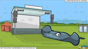 Festival stage clipart image transparent stock A Wide Stingray and An Empty Outdoor Festival Stage Background image transparent stock