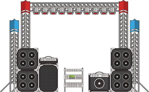 Festival stage clipart jpg freeuse stock Festival and Concert Stage Equipment premium clipart - ClipartLogo.com jpg freeuse stock