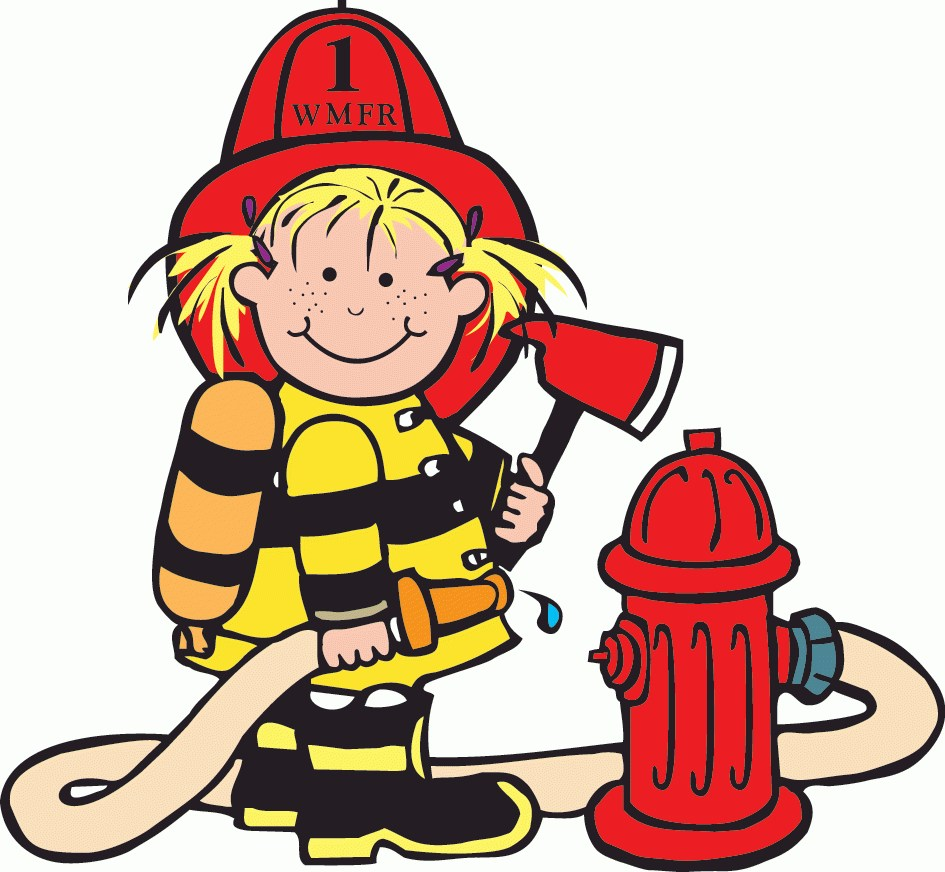 Feuerwehrstation clipart jpg black and white Girl Firefighter Cartoon | Clipart Panda – Free Clipart Images ... jpg black and white