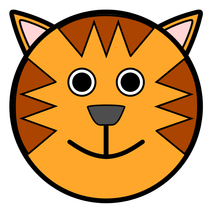 Orange cat face clipart vector free stock Tiger Clipart vector free stock