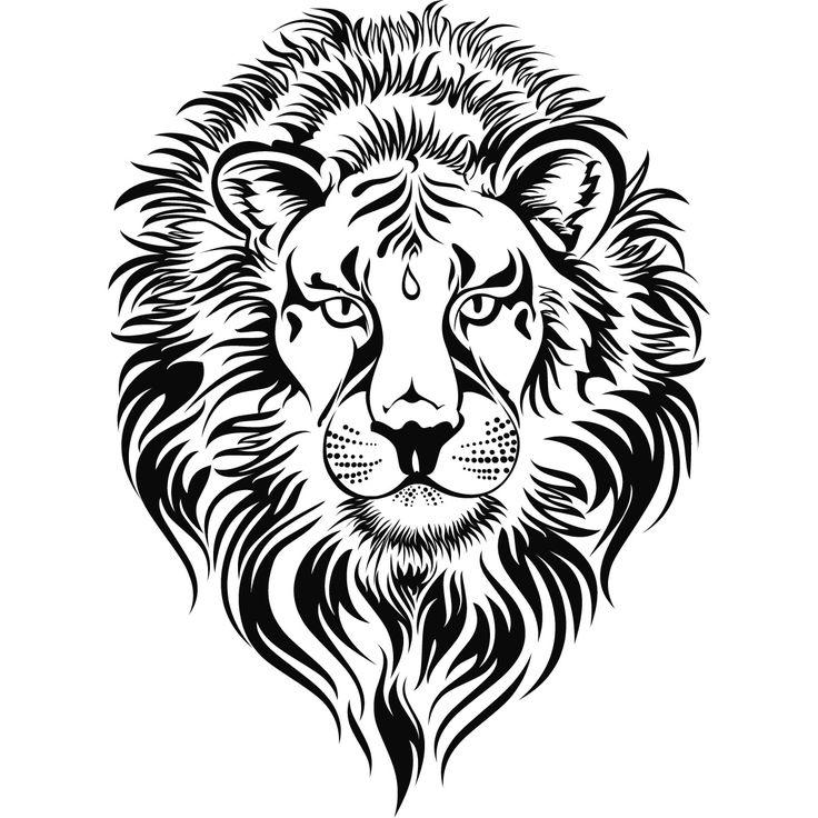 Fierce lion clipart vector transparent library Fierce lion clipart lions head wall art sticker 0 0 - Cliparting.com vector transparent library