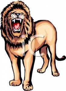 Fierce lion clipart banner transparent stock A Fierce Roaring Lion - Royalty Free Clipart Picture banner transparent stock