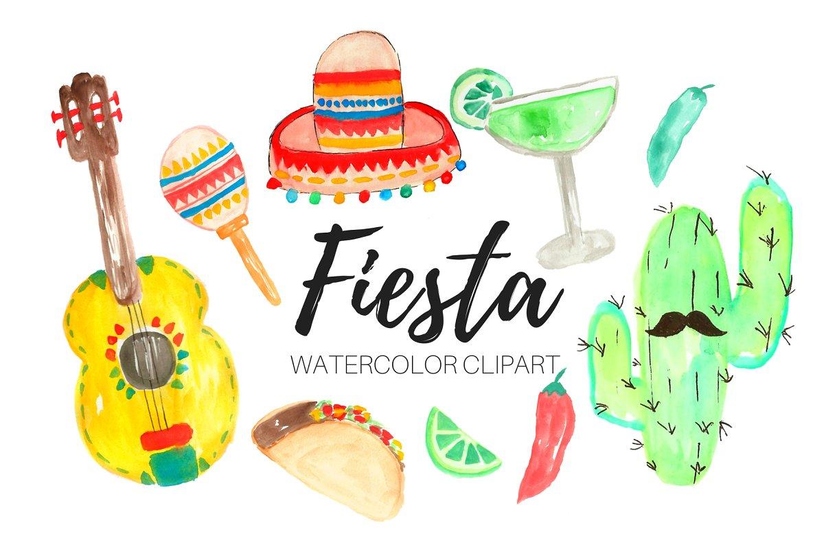 Fiesta clipart png jpg royalty free stock Watercolor Fiesta Clipart jpg royalty free stock
