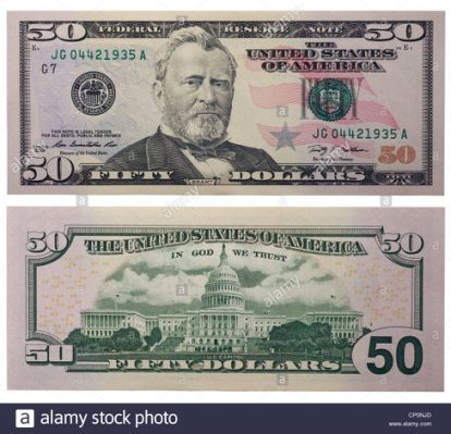 Fifty dollar bill clipart png free stock Fifty dollar bill, back and front | FounterCit | 100 dollar bill ... png free stock