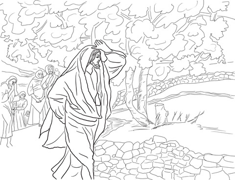 Fig gardening in bible clipart black and white svg free Jesus Curses the Fig Tree coloring page | Free Printable Coloring Pages svg free