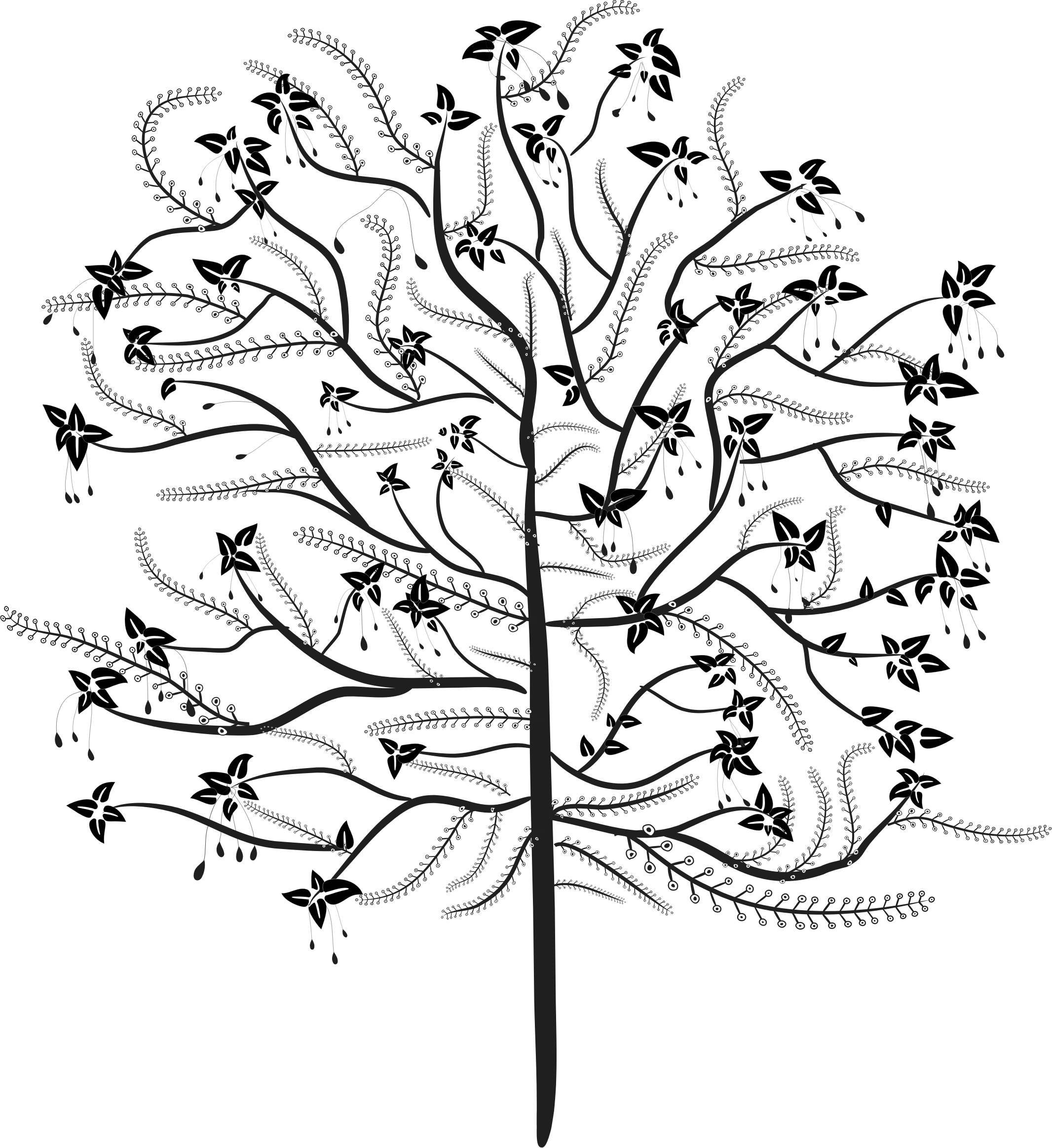 Fig tree clipart black and white svg black and white download Stylized Tree Drawing at GetDrawings.com | Free for personal use ... svg black and white download