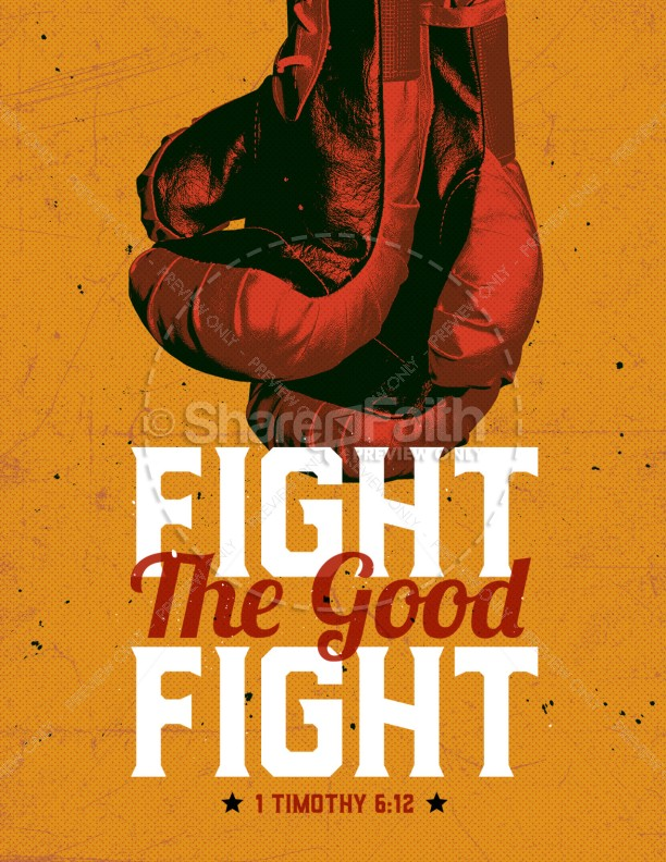 Fight the good fight clipart clipart free stock Fight The Good Fight Of Faith Church Flyer Template | Flyer Templates clipart free stock