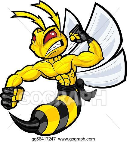 Fighting hornet clipart jpg transparent download Vector Stock - Fighting hornet. Stock Clip Art gg56417247 - GoGraph jpg transparent download