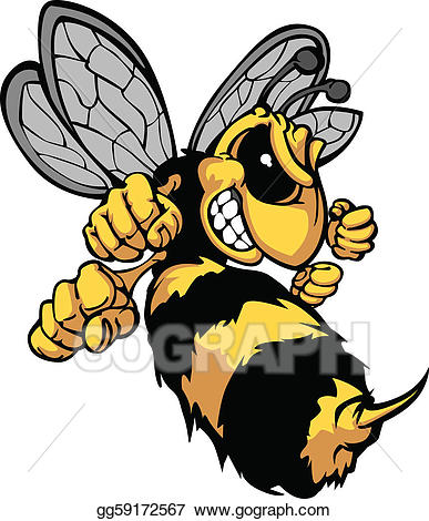 Fighting hornet clipart free Vector Clipart - Bee hornet cartoon vector image. Vector ... free