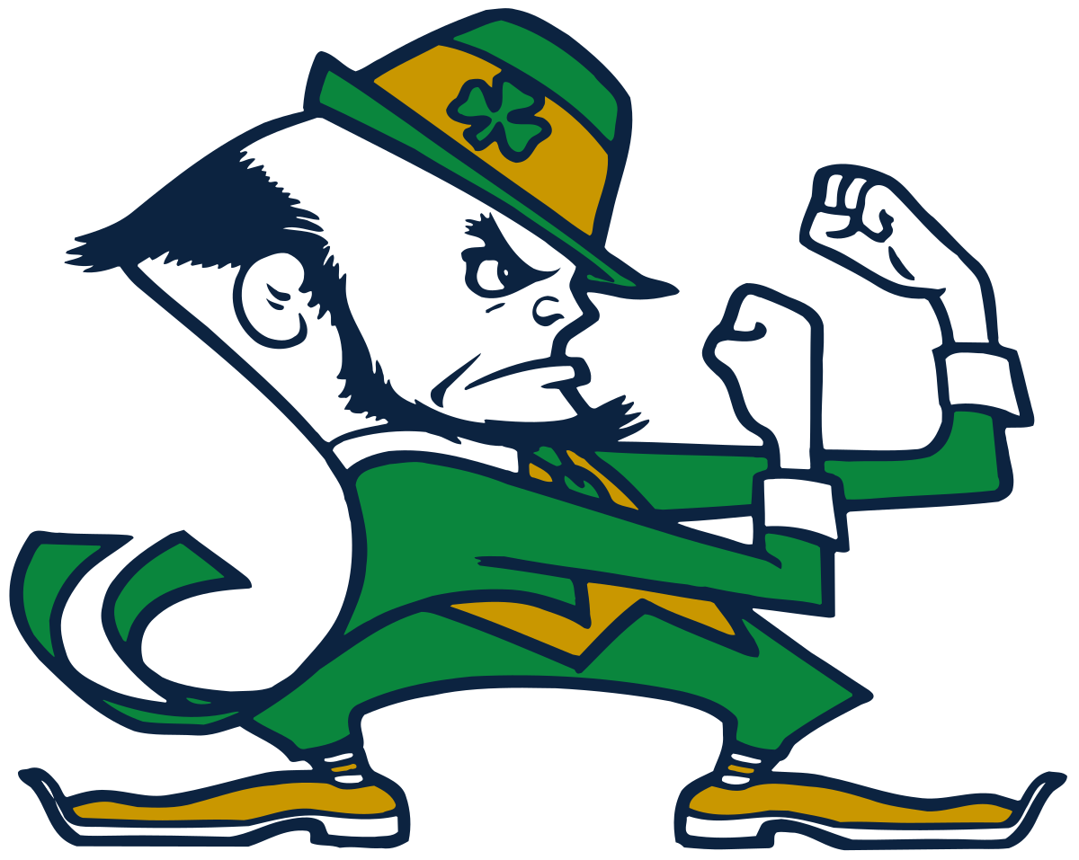 Fighting irish clipart football.  collection of notre