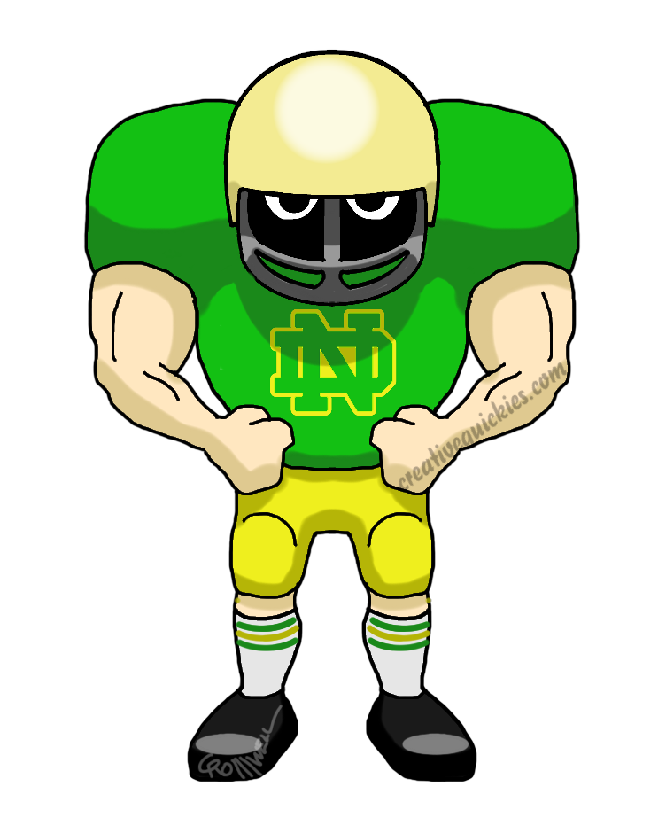 Notre dame at getdrawings. Fighting irish clipart football