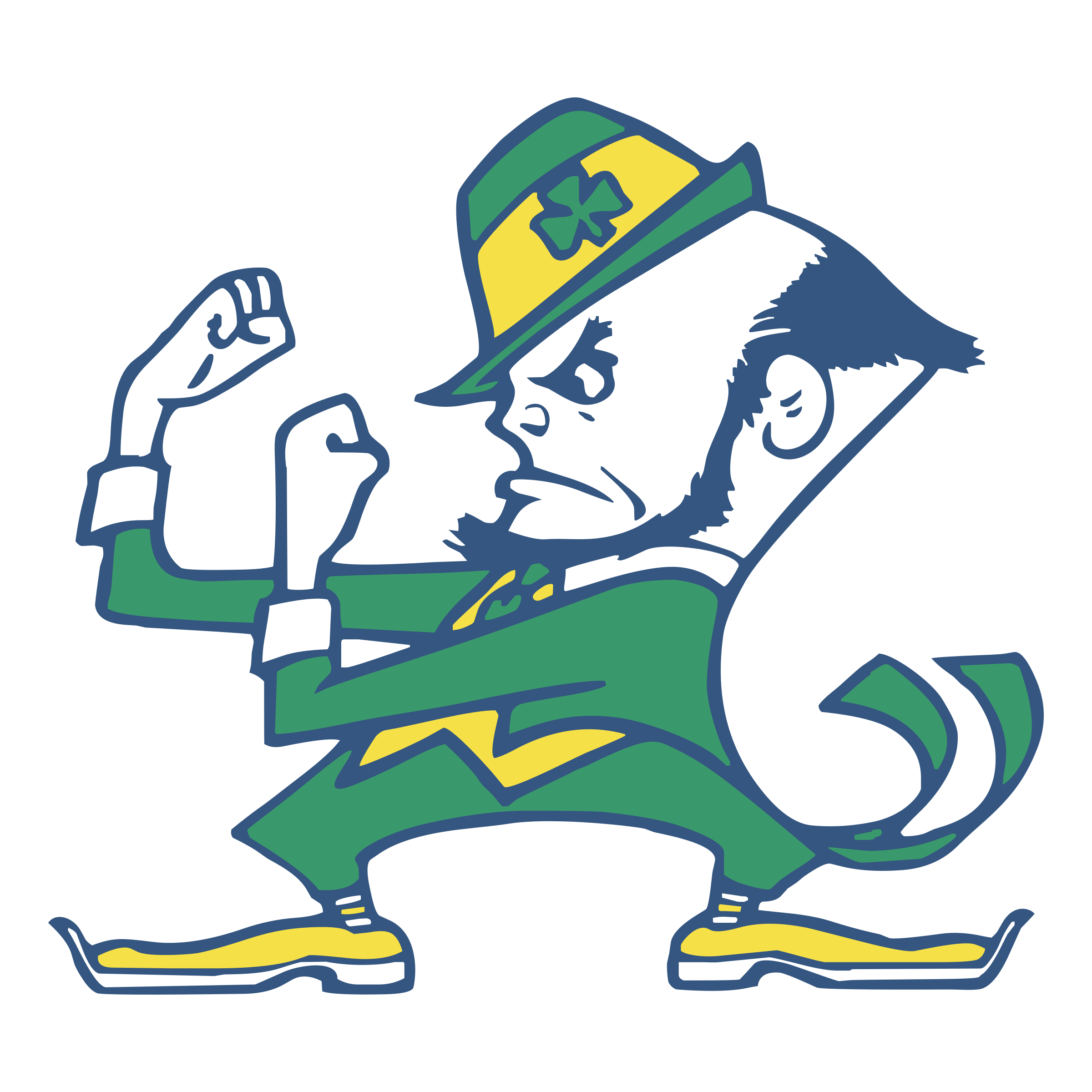 Fighting irish clipart football. Notre dame logo png
