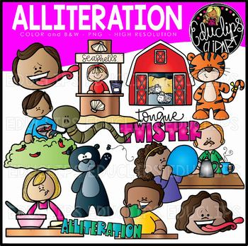 Figurative language clipart graphic free Figurative Language - Alliteration Clip Art Set {Educlips Clipart} graphic free