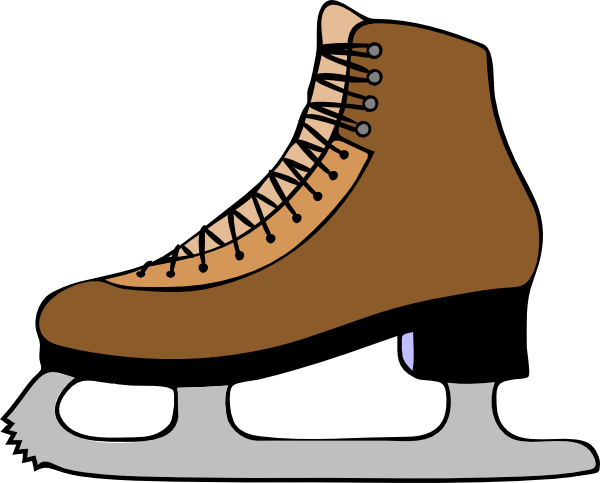 Figure skate clipart vector royalty free skate template | Ice Skate Shoe clip art - vector clip art online ... vector royalty free
