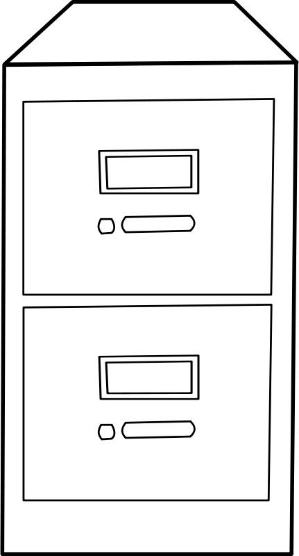 File cabinet clipart clip art black and white stock Free Clipart: Classeur vertical / Vertical File Cabinet | Objects ... clip art black and white stock