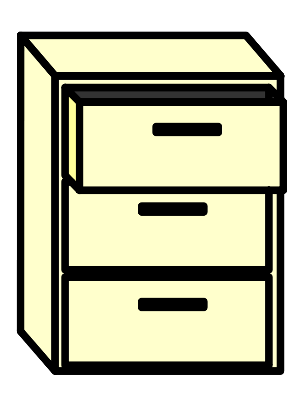 Library of file cabinet vector black and white library png ...