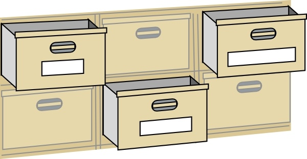 File cabinet clipart clip library stock Furniture File Cabinet Drawers clip art Free vector in Open office ... clip library stock