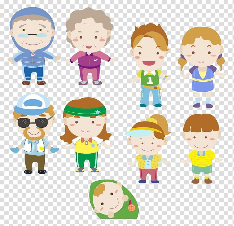 Filial clipart picture library library Cartoon Family , Honor their parents elders transparent background ... picture library library