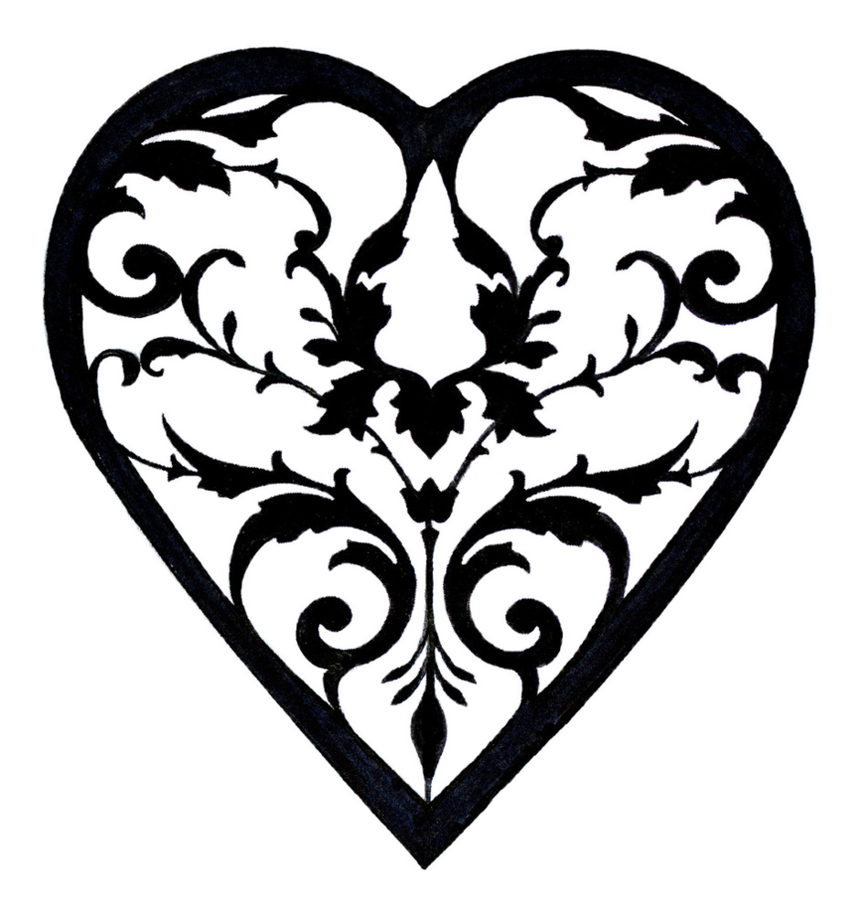 Heart filigree clipart