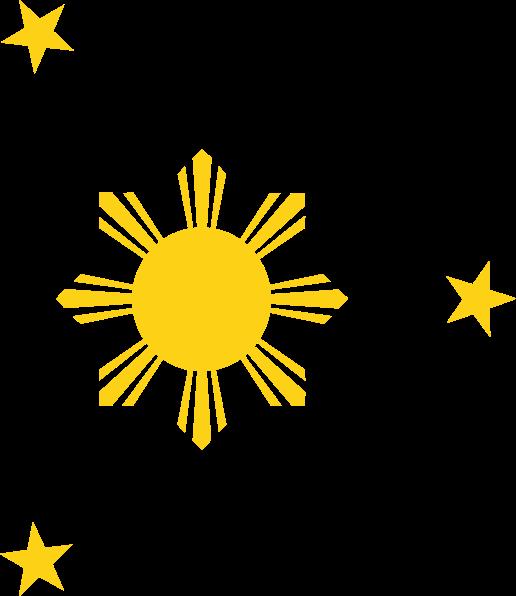 Filipino flag star clipart vector library stock Phil Sun Star Clip Art at Clker.com - vector clip art online ... vector library stock