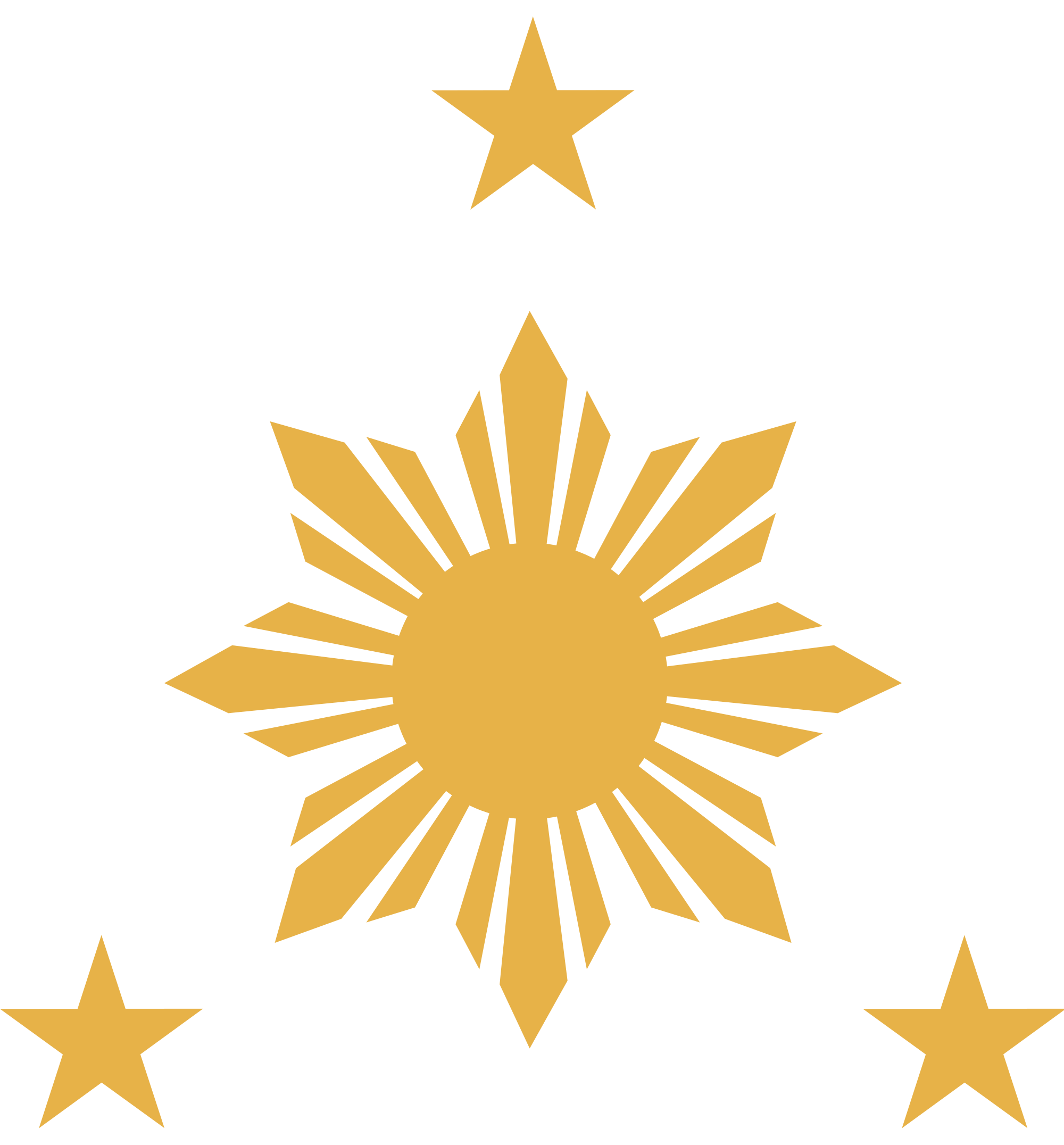 Philippines sun clipart image black and white File:Three Stars and Sun (Azkals).svg - Wikimedia Commons image black and white