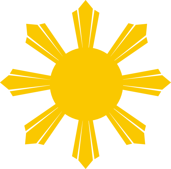Philippines sun clipart transparent Philippine Sun Clip Art at Clker.com - vector clip art online ... transparent