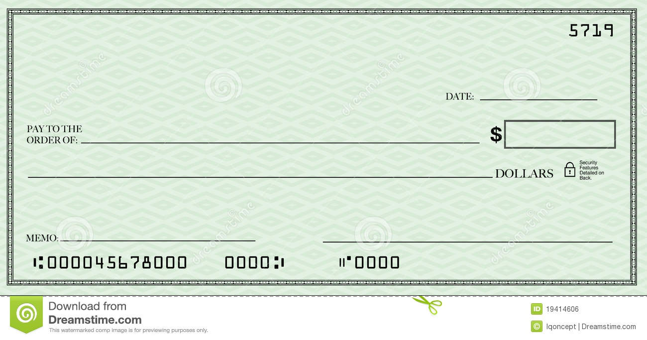 Filled cheque clipart picture royalty free stock Free blank cheque clipart - ClipartFox picture royalty free stock