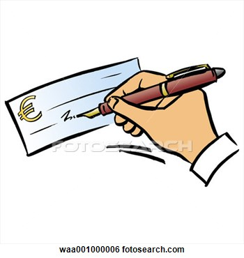 Filled cheque clipart png Check Payment Clipart png