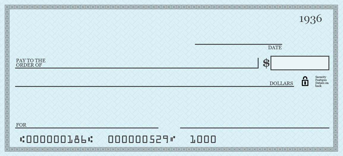 Filled cheque clipart svg library stock Blank cheque clipart - ClipartFest svg library stock