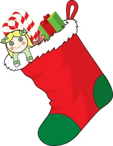 Filled clipart svg library download Free Stocking Clipart Image - Christmas Stocking Filled with Candy ... svg library download