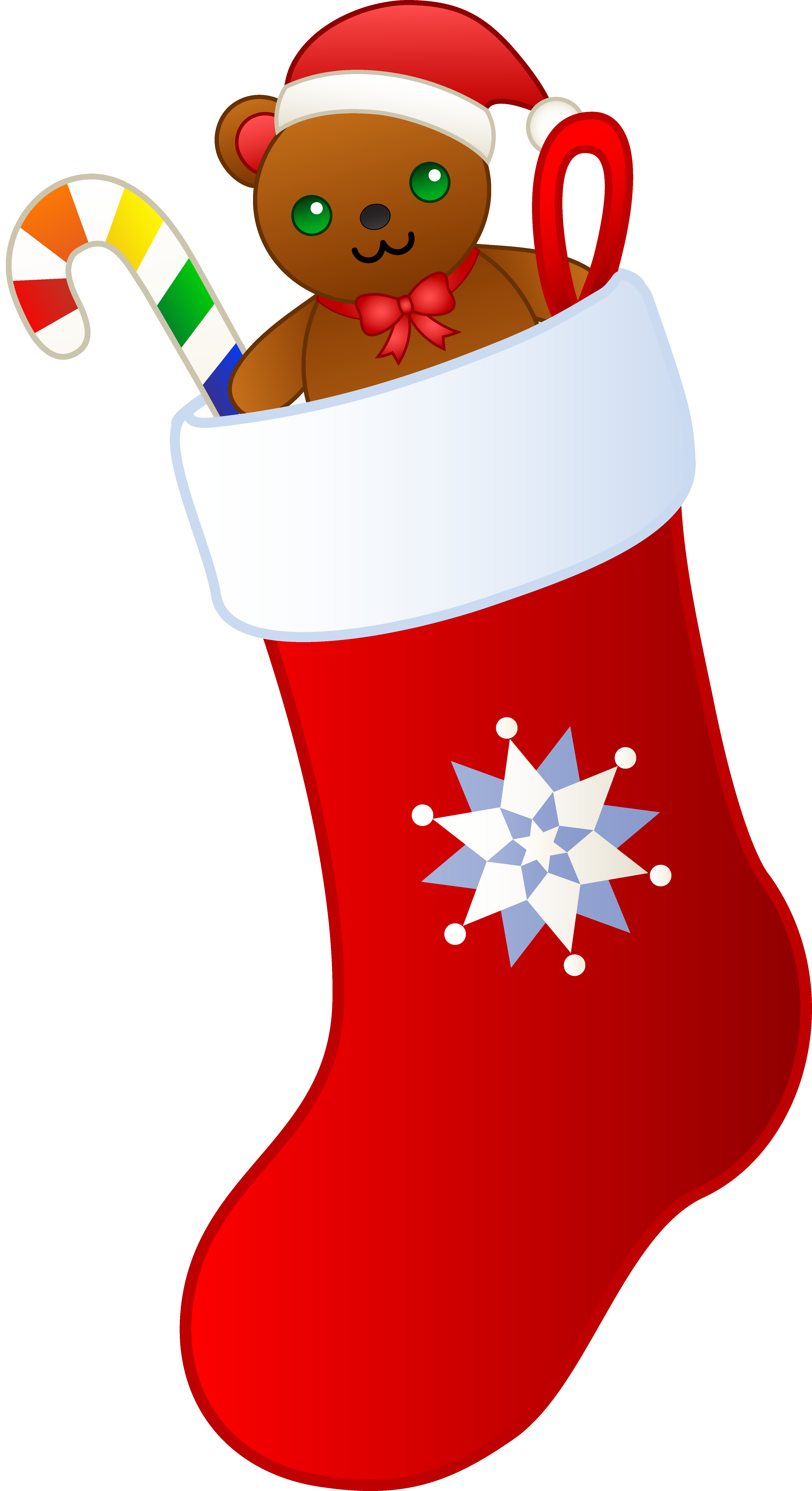 Stocking tree clipart svg stock Christmas Stocking Filled With Gifts - Free Clip Art svg stock