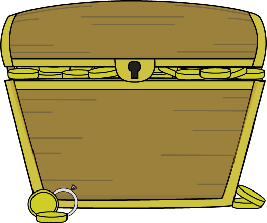 Filled clipart graphic library Gold Filled Treasure Chest Clip Art - Gold Filled Treasure Chest Image graphic library