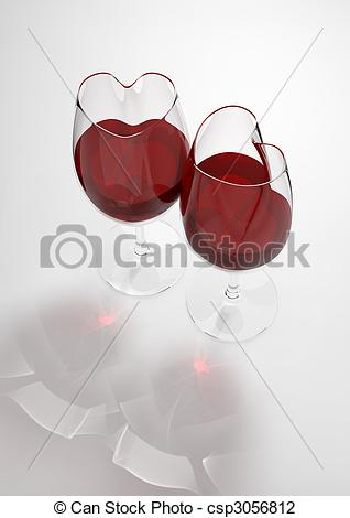 Filled with love clipart picture free library Clip Art of Heart shaped wine glasses filled with love poison ... picture free library