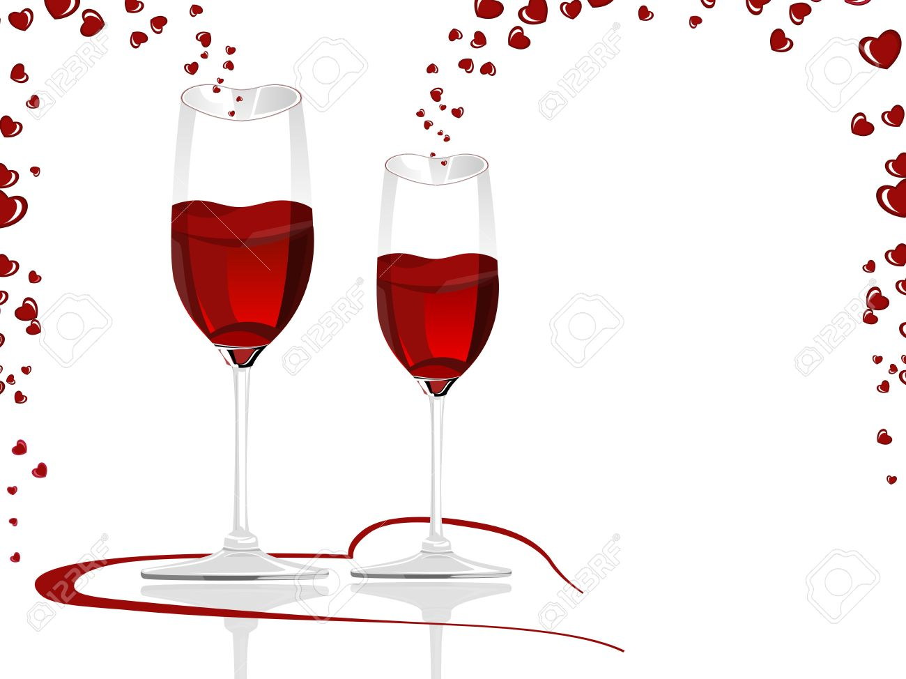 Filled with love clipart transparent library Clipart love wine - ClipartFest transparent library