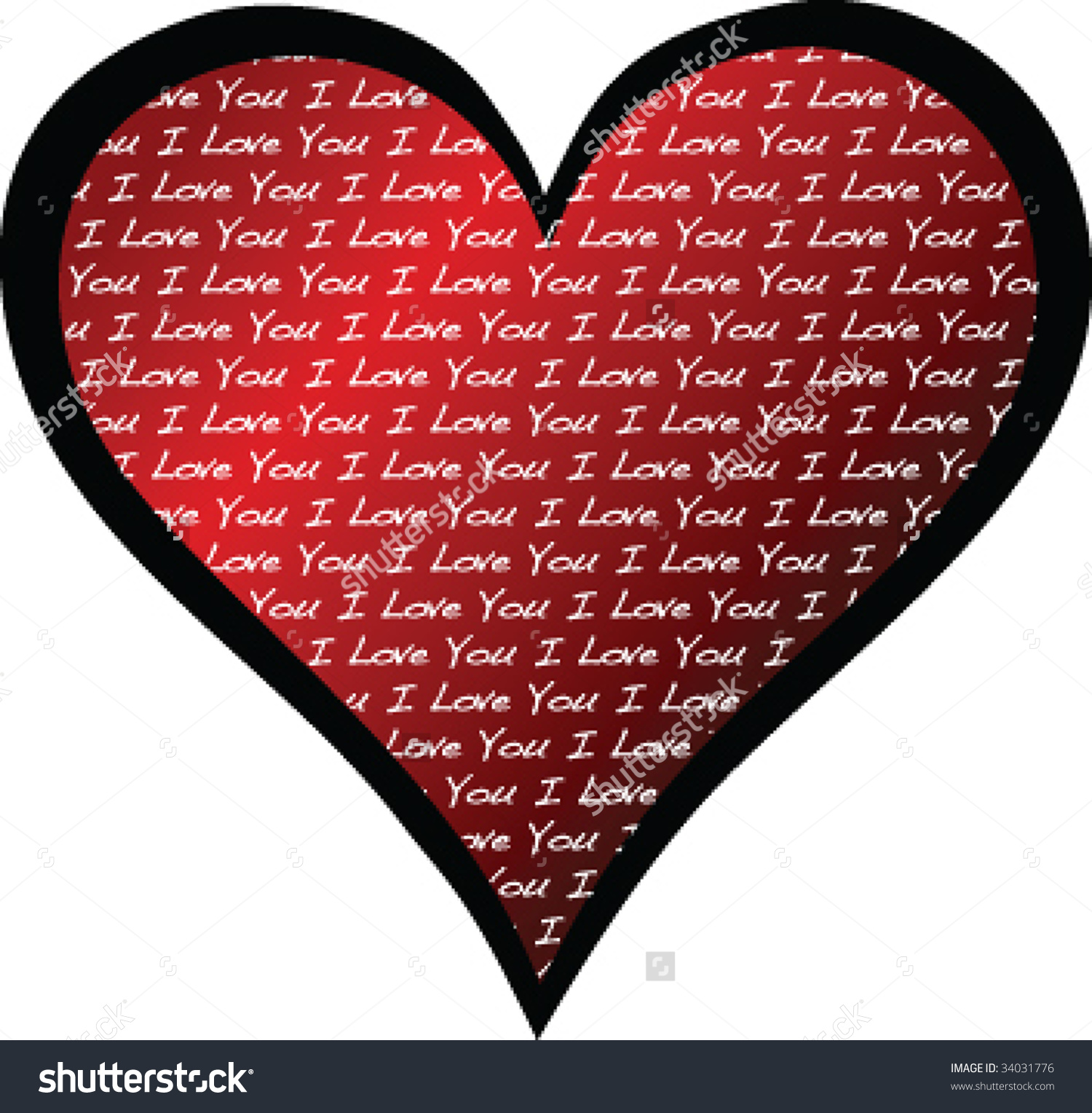 Filled with love clipart clipart free download Vector Heart Filled Words Love You Stock Vector 34031776 ... clipart free download
