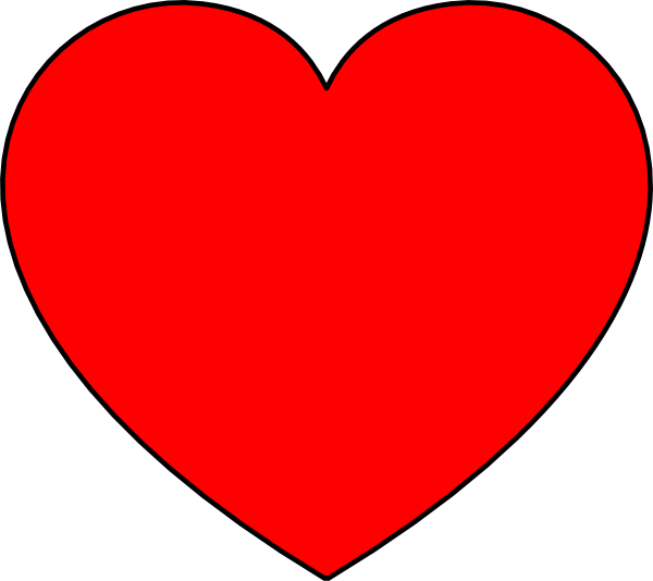 Filled with love clipart jpg transparent stock Simple Heart Red Filled Clip Art at Clker.com - vector clip art ... jpg transparent stock