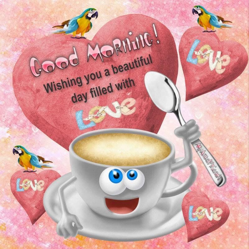 Filled with love clipart clipart black and white download Good Morning Wishing You A Day Filled With Love Pictures, Photos ... clipart black and white download