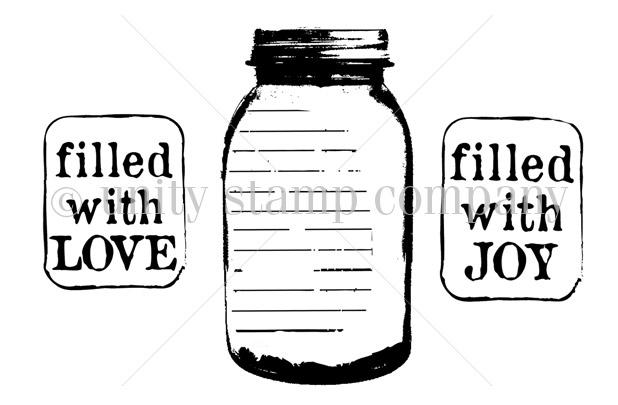 Filled with love clipart transparent HUGE JAR {filled with love} | Unity Stamp Co | Unity Stamp Co transparent