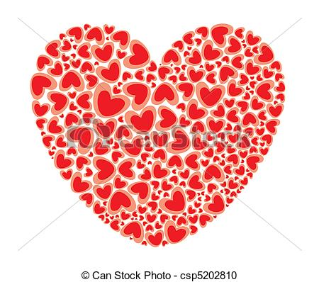 Filled with love clipart png royalty free stock Vector Clipart of Heart Full of Love - St. Valentines Big Heart ... png royalty free stock