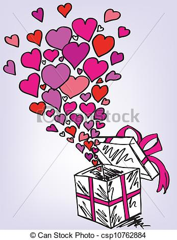Filled with love clipart picture transparent Vector of gift boxes sketch filled with much love. vector ... picture transparent