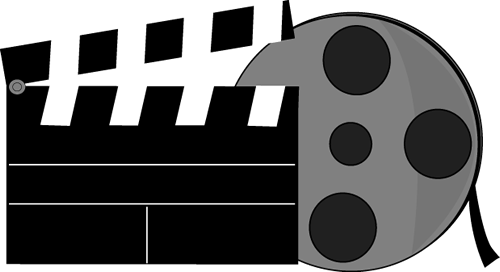 Movie script clipart clipart black and white Movie Clip Art | Clipart Panda - Free Clipart Images clipart black and white