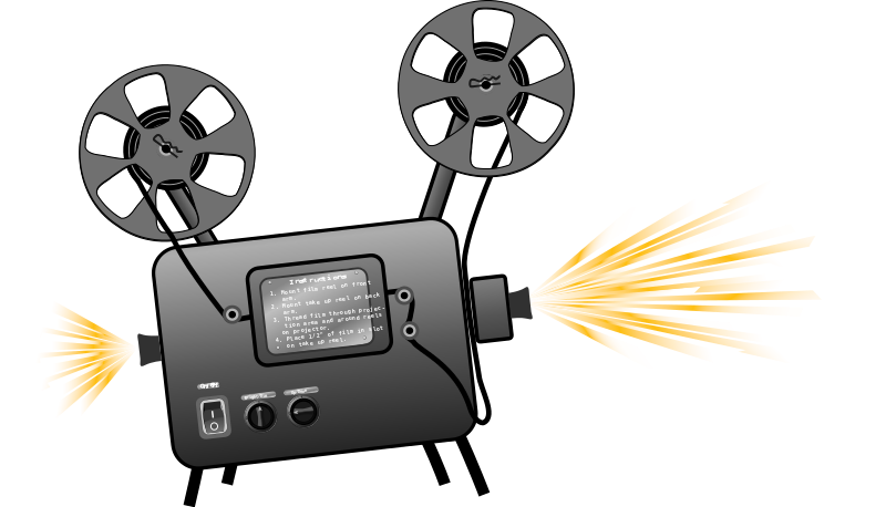 Movie projector images clipart jpg free library Free Clipart: Film projector | Woofer jpg free library