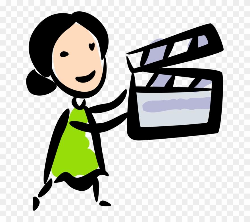Filmmaking clipart clip art library download Vector Illustration Of Filmmaker With Filmmaking And Clipart ... clip art library download