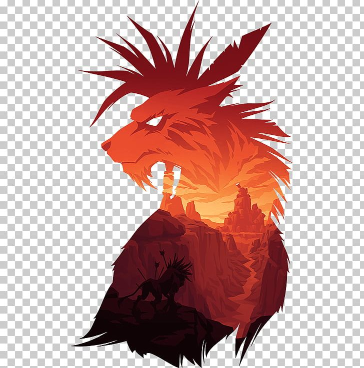 Final fantasy vii clipart picture black and white T-shirt Final Fantasy VII Red XIII Hoodie PNG, Clipart, Canyon ... picture black and white