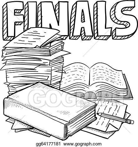 Finals clipart banner library stock EPS Vector - Final exam schedule. Stock Clipart Illustration ... banner library stock