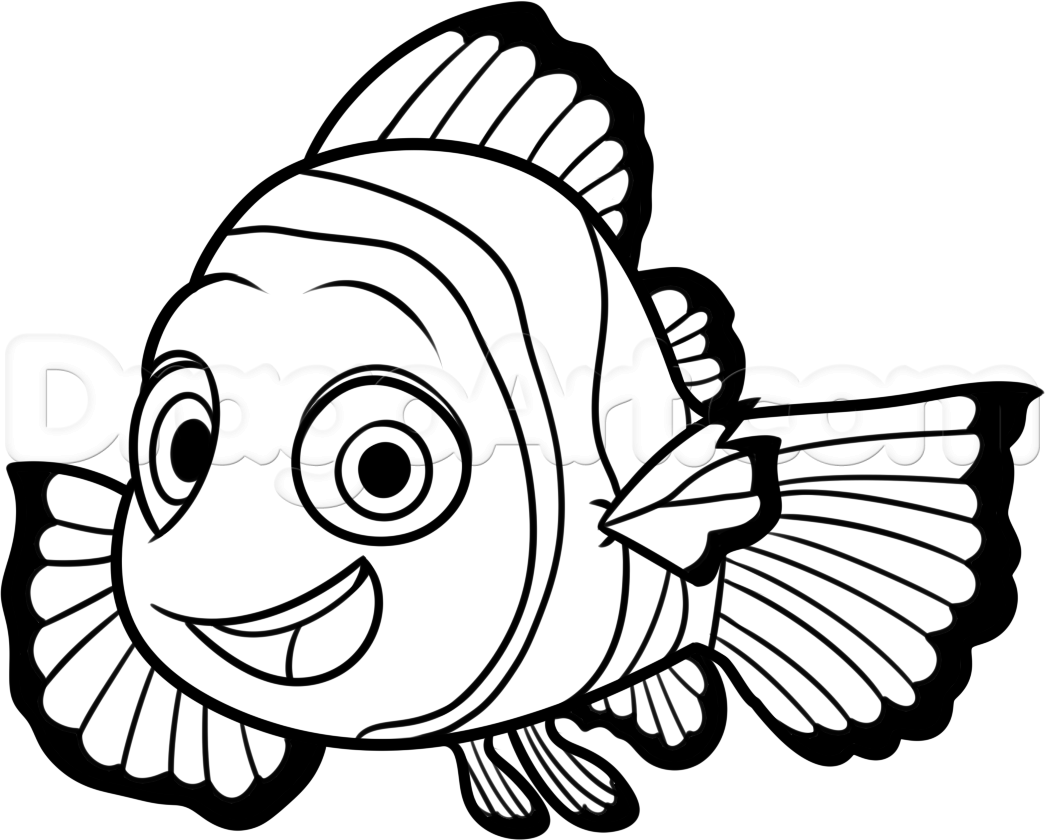 Finding nemo clipart black and white jpg black and white stock Nemo Fish PNG Black And White Transparent Nemo Fish Black And White ... jpg black and white stock