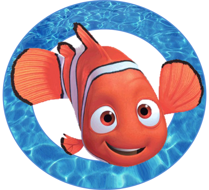 Finding nemo fish clipart clipart black and white stock Free Finding Nemo Party Ideas - Creative Printables   Finding Nemo ... clipart black and white stock