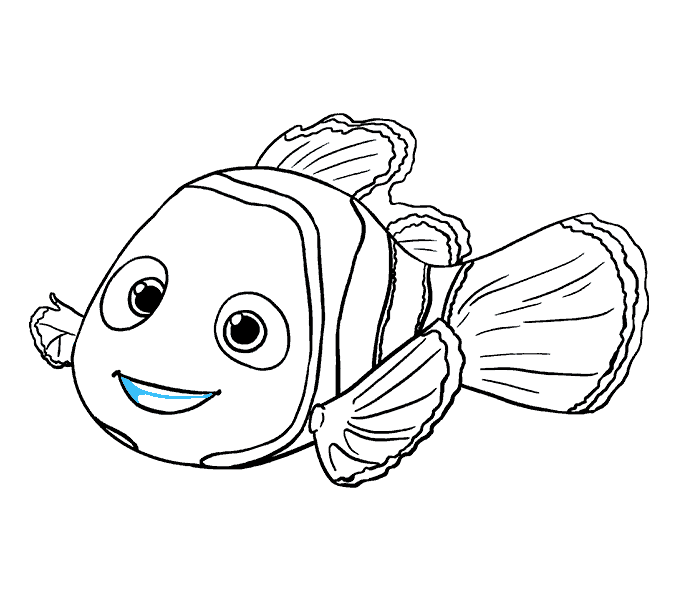 Fish with bubbles clipart black and white picture library Nemo Fish PNG Black And White Transparent Nemo Fish Black And White ... picture library
