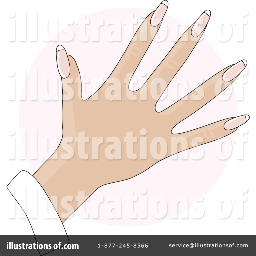 Finger nails clipart clipart freeuse library Fingernails Clipart #20482 - Illustration by Maria Bell clipart freeuse library